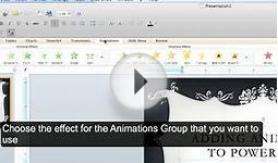 Microsoft Office PowerPoint MAC: Adding Animations